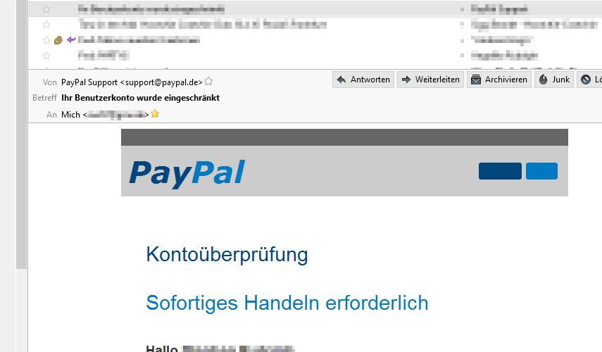Spoof Paypal.De