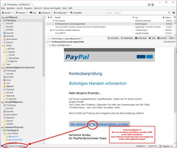 PayPal Fake Mail